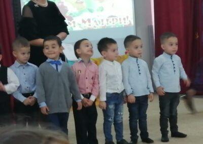 Поздравили красивыми стихотворениями.