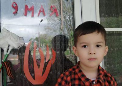 Участие в акции 'Окно Победы' - семья Бурдзиева Ахсартага