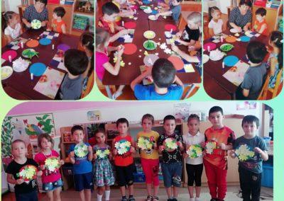Поделки с детьми Подготовительной Б гр. 'Летние букеты'