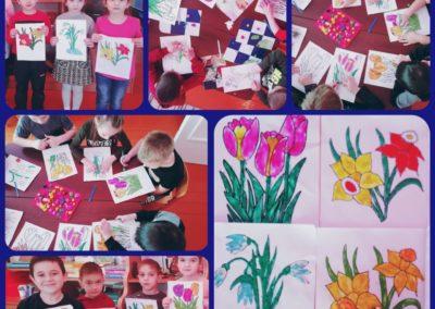 Пластелинография. 'Весенные цветы'